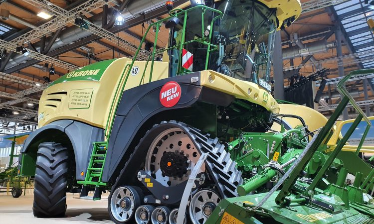 Krone 'rolls' out tracks and joystick-steering for the BiG X