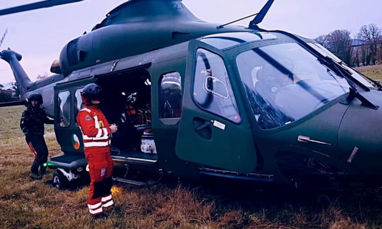 Air corps ambulance deployed to 2 farm accidents
