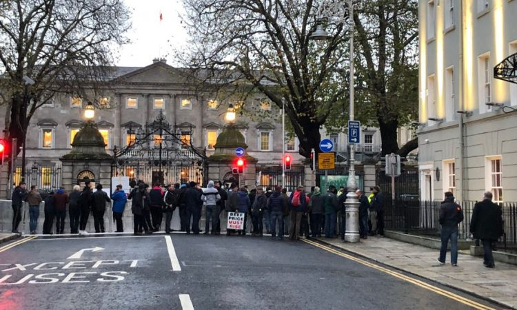 Protesters seek meeting with Minister Creed