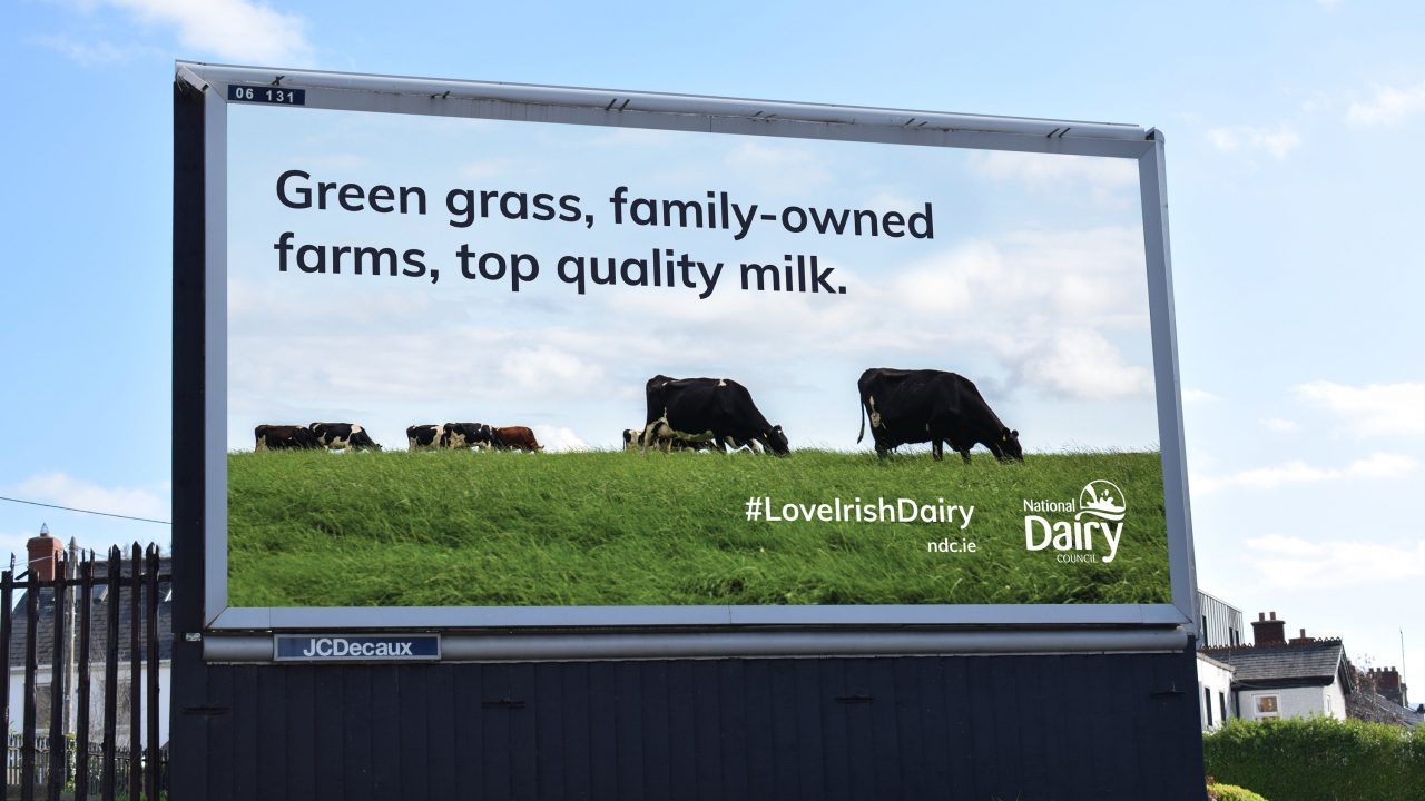 Billboard campaign unveiled by NDC to promote Irish dairy