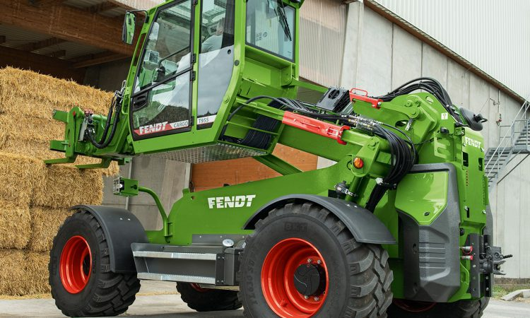 A Fendt-badged telehandler with an 'all-round view like a wheel loader'