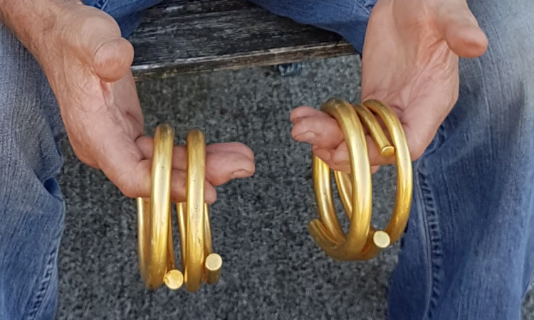 4kgs of prehistoric gold discovered by farmer goes on display