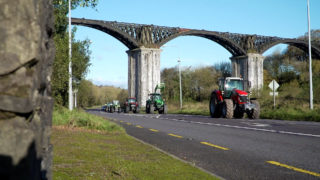 AgriLand spots this convoy…to launch the Kilbrittain Tractor Run (2019) in Co. Cork