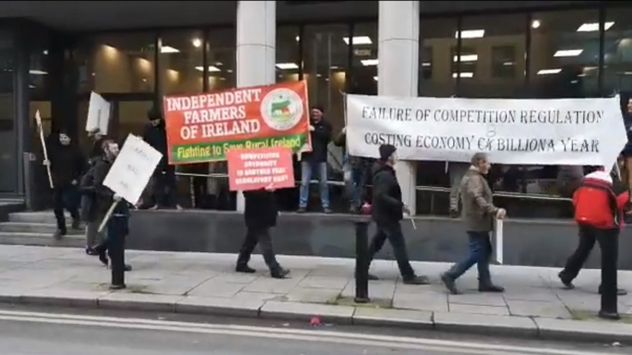 IFOI members protest outside CCPC offices in Dublin