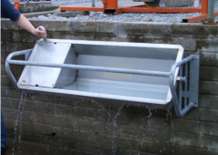 Tired of cleaning out water troughs? Then a tip-over drinker might be for you