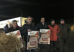 IFA blockades Lidl distribution centre in Cork