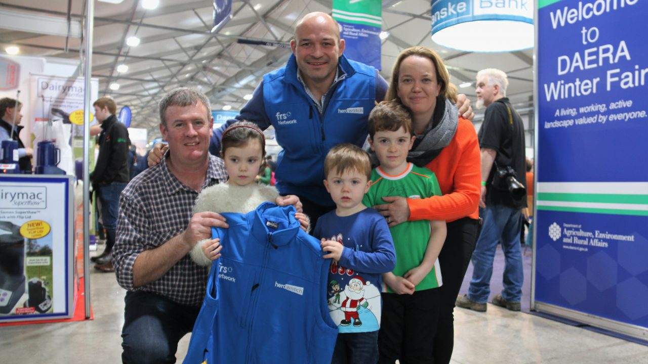Rory Best meets fans at the Winter Fair…on the way to a South African rugby summit