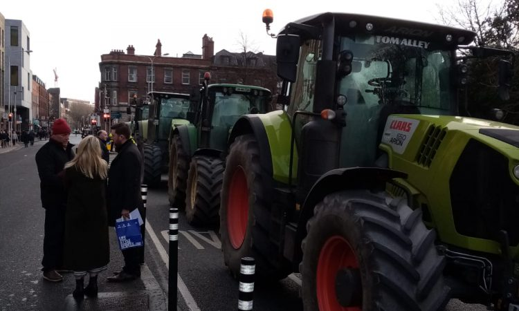 Pics: Tractor protest takes to Dublin as demonstrators call for beef price boost