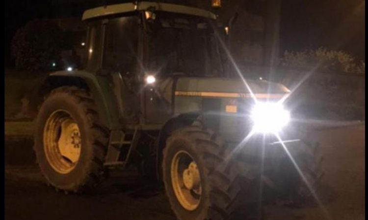 Gardaí stop tractor at 12:30am…driven by 12-year-old