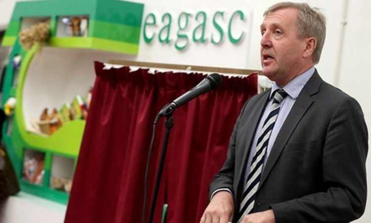 How much of department's €1.39 billion goes to Teagasc and Bord Bia?