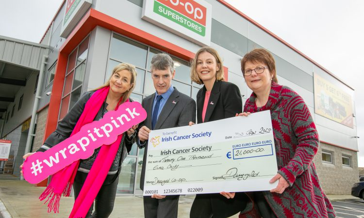 Dairygold 'Wrap It Pink' raises €21,000 for Irish Cancer Society