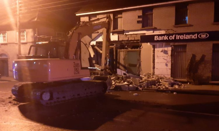 Digger used in attempted ATM theft in Louth