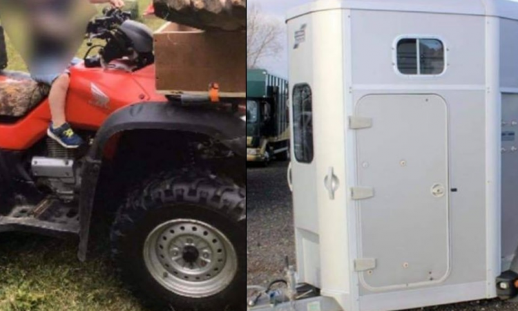 Gardaí investigate theft of trailer and quad from yard