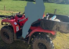 Garda info appeal made following theft of Yamaha quad
