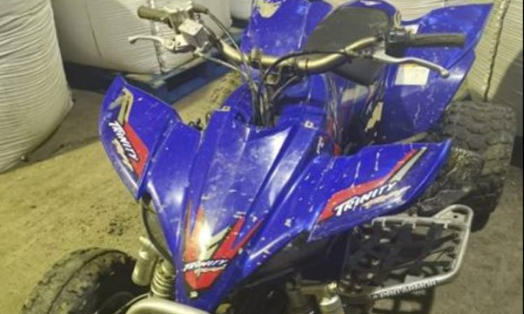 Appeal for info following seizure of 'stolen' quad