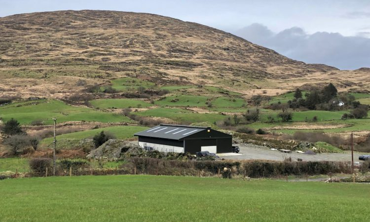 Buildings focus: A brand new 5-bay slatted unit with a lie-back area and crush in Co. Cork