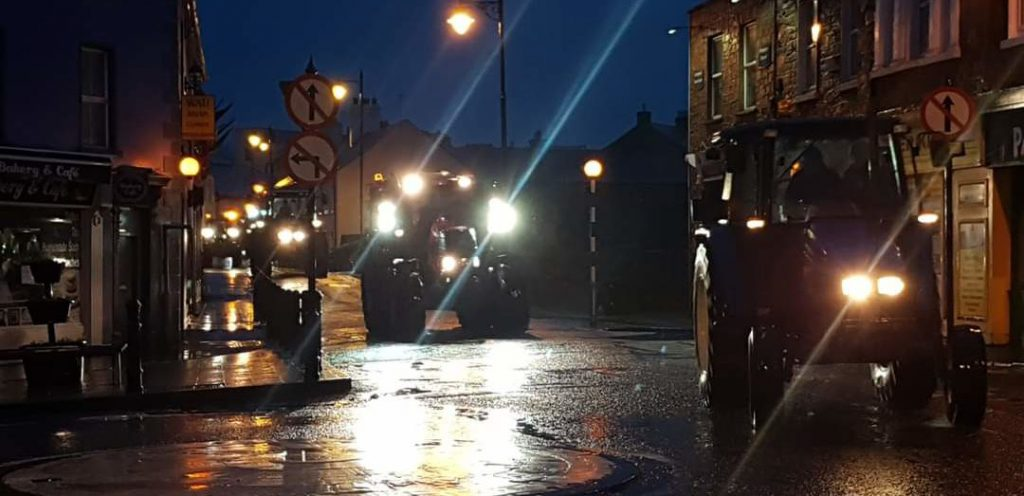 Image source Meath Macra tractor run parade of light