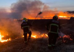 Fires in rural areas detected by satellites