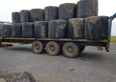 Gardaí stop tractor with 'very unsafe load'