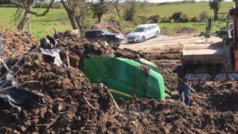 Stolen machinery found buried in Co. Down