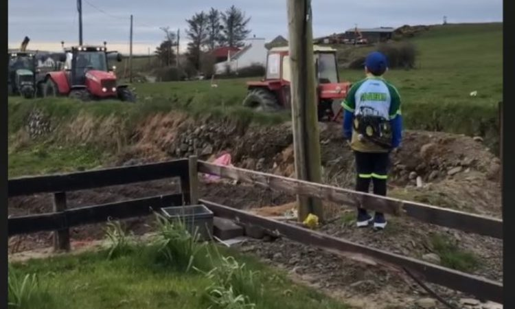 Local farmers ensure birthday to remember for lucky tractor-mad lad