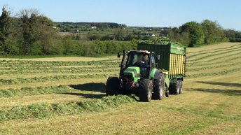 Harvesting first-cut silage 5 weeks earlier than 2019 in Co. Roscommon