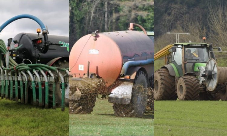 How is slurry spread on Irish farms…according to the data?