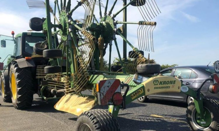Tractor driver reined in following road safety wrong