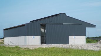 Video: Taking a look at 2 brand new – grant-spec – sheep sheds in Co. Mayo