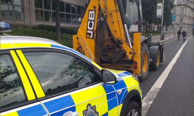 JCB seized following Garda stop