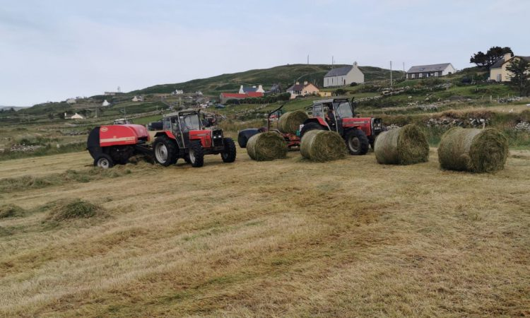'Take me to a island': A hang for baling silage on Cape Clear