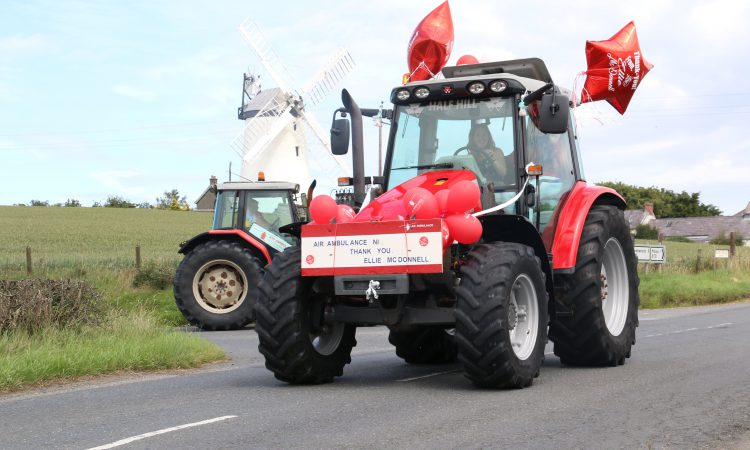 Post-lockdown tractor run raises £9,000 for Air Ambulance NI