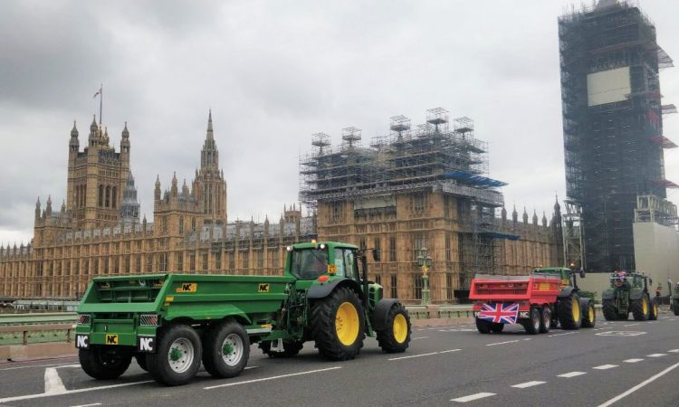 Tractor protesters take to London to 'Save British Farming'