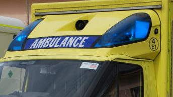 Man taken to hospital after tractor collision with tree