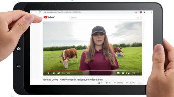 Nouvelle série de vidéos de faits saillants de femmes à la tête de voie sur les fermes