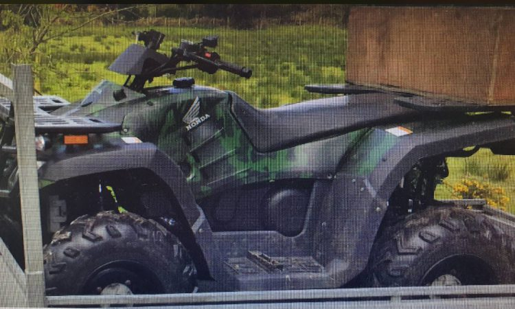Appeal for assistance of public following theft of quads