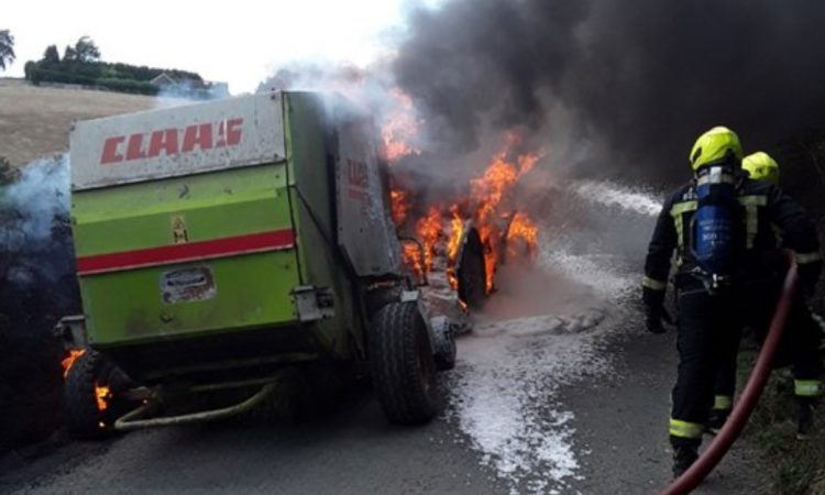 Tractor and baler go up in smoke in Wicklow