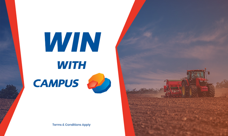 Win 1,500L of agri oil from Campus Oil