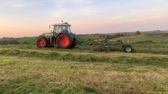 Harvesting the last of the winter fodder in Co. Mayo