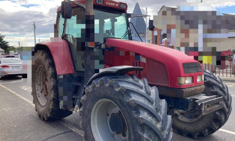 Gardaí seize tractor in 'sunny southeast'