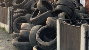 Farmer takes revenge on 'fly-tipper' who dumped over 400 tyres on his land