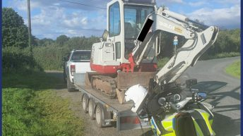 RPU Gardaí halt 'dangerous' mini digger in its tracks