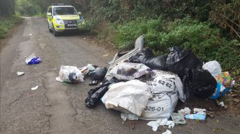 Gardaí discover 'contact details of owner' in rubbish dumped on road