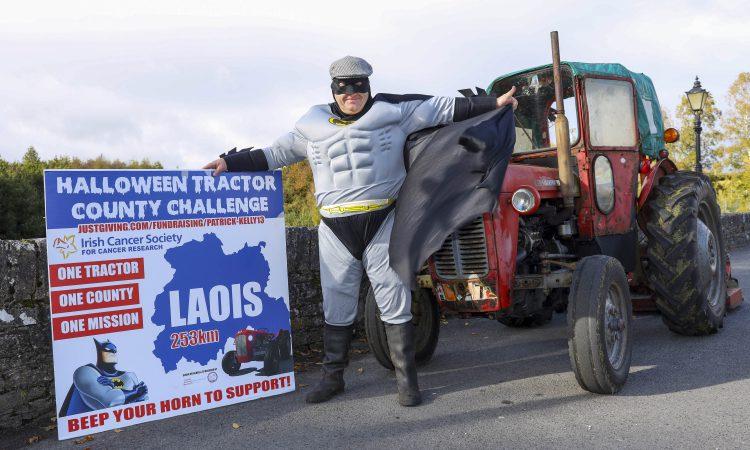 Batman takes to his Massey Ferguson for fundraiser