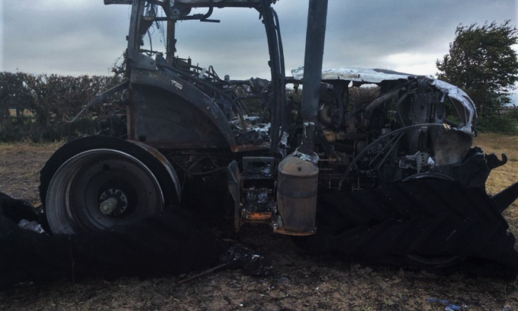 Cost of tractor fires soars to £19 million in the UK
