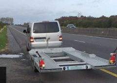 Van towing trailer brought to halt by Gardaí on M7