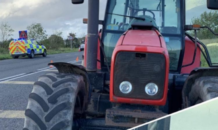 Gardaí seize tractor at checkpoint in Meath