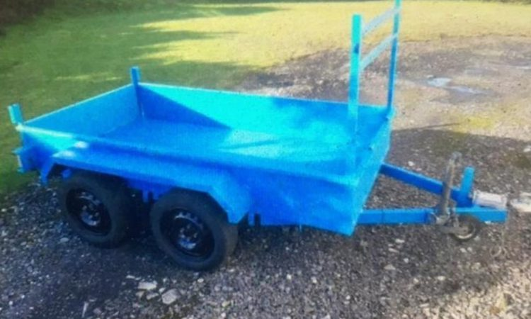 Gardaí appeal for info following theft of 'distinctive' blue trailer