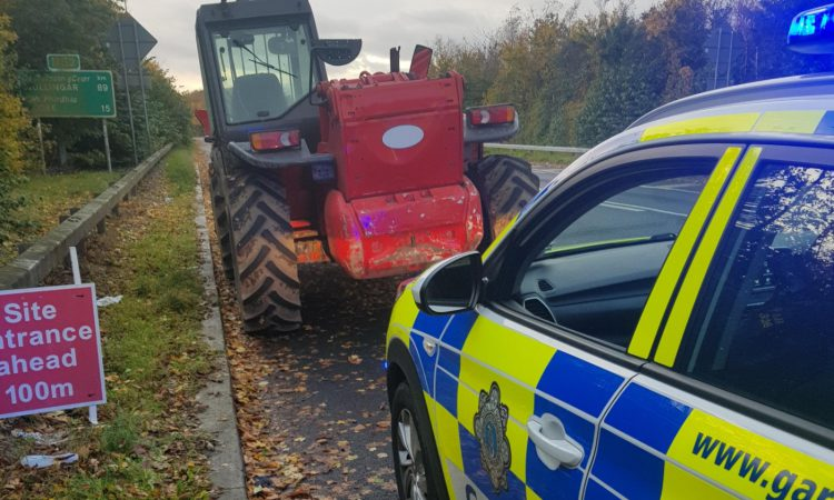 Telehandler seized by Gardaí 'with proceedings to follow'