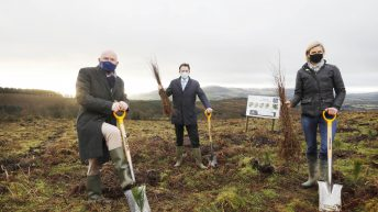 Agriculture minister joins supermarket brand to launch tree-planting pledge